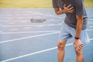 exercise induced asthma - Man runner athlete